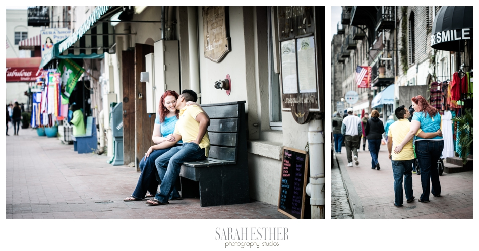 Of course we headed down to Riverstreet for the rest of the engagement session. You can't go to Savannah without that!