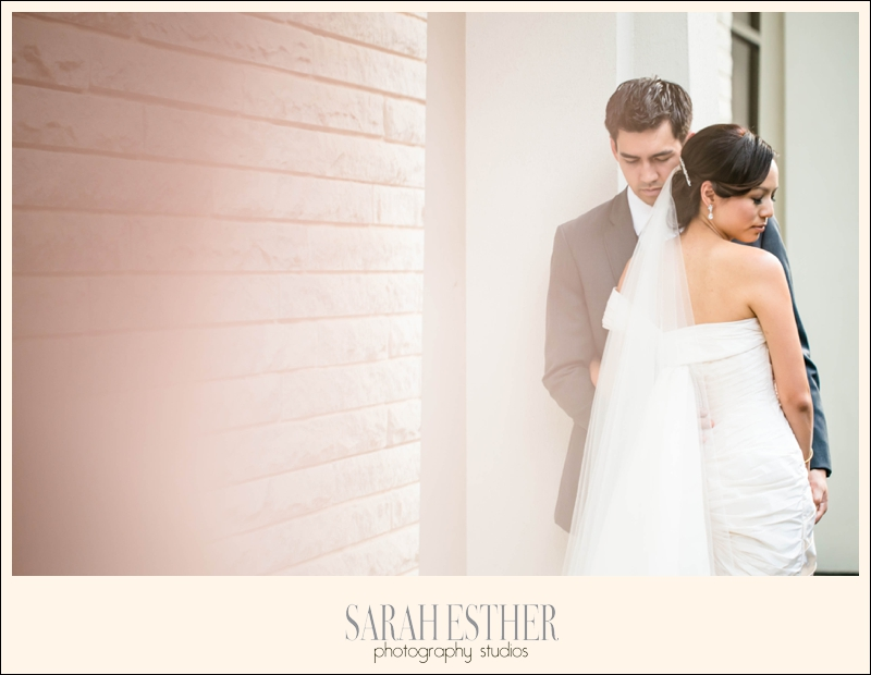 I love this post-ceremony portrait of Dan and Lin. We snuck over to the side for a private moment.