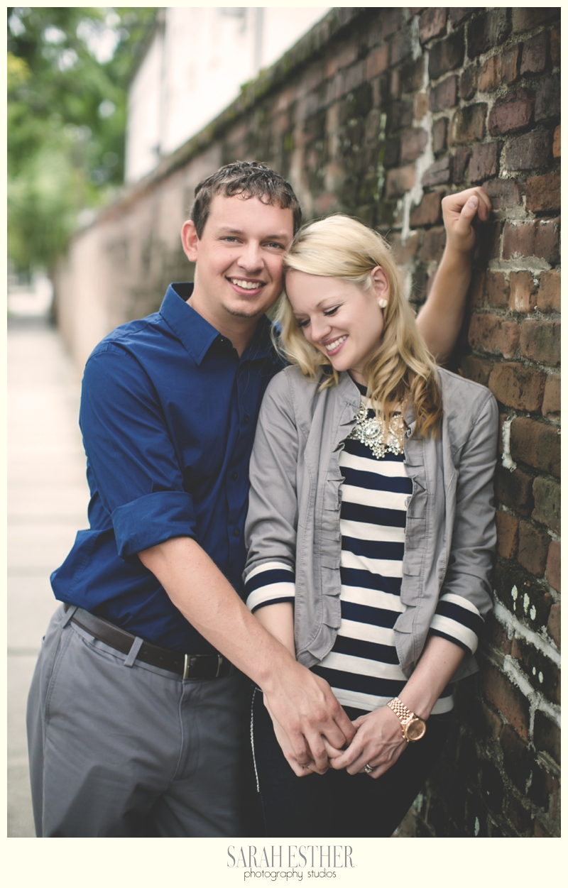 downtown charleston historical engagement session photography