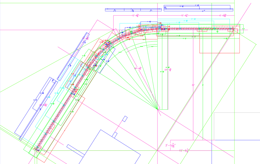 Several technical drawings were required to realize the project, and although most processes resembled conventional construction, the requisite precision, planning, and discipline often exceeded it