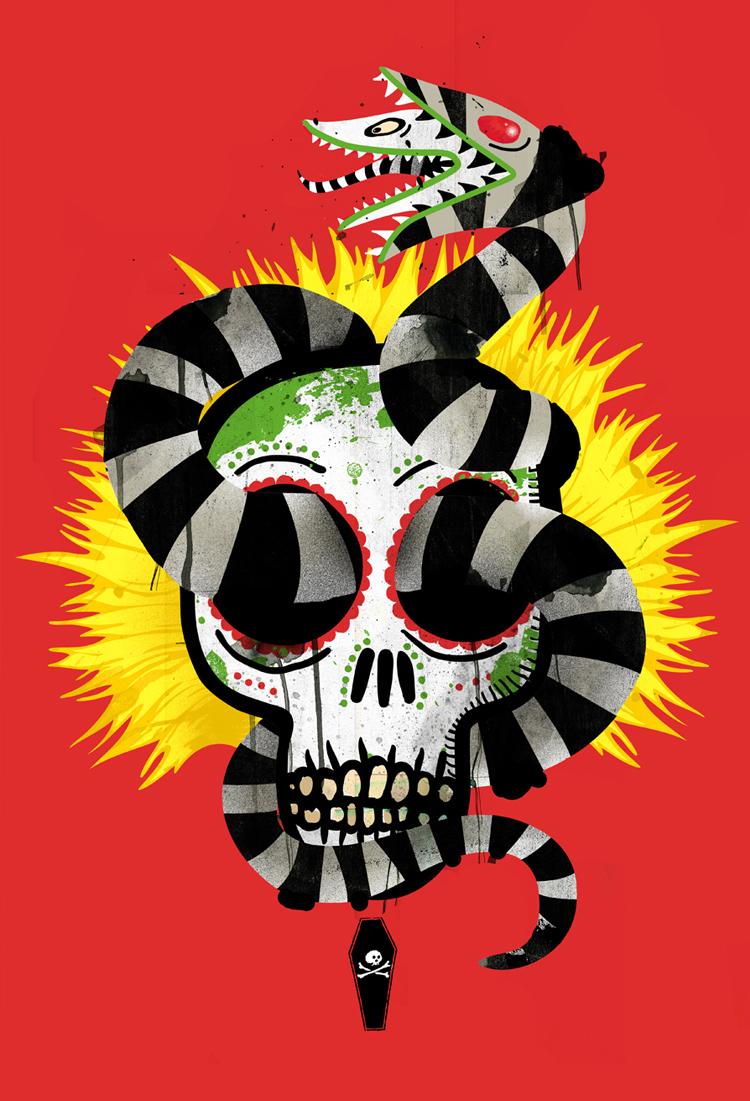 """""""Dia De Los Sandworms"""" Beetlejuice Print"""