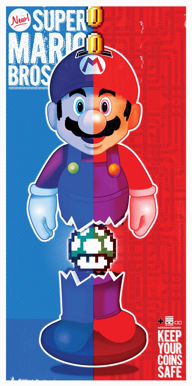 """""""Keep Em' Safe"""" Mario Bros. Print"""