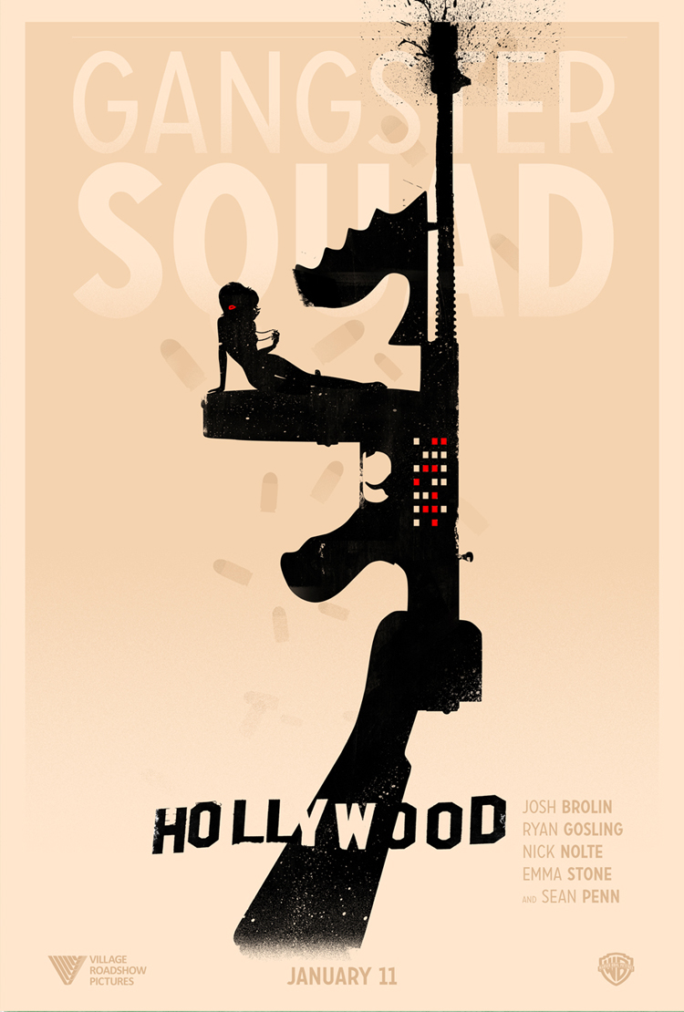 """Gangster Squad"" Poster for Shortlist"