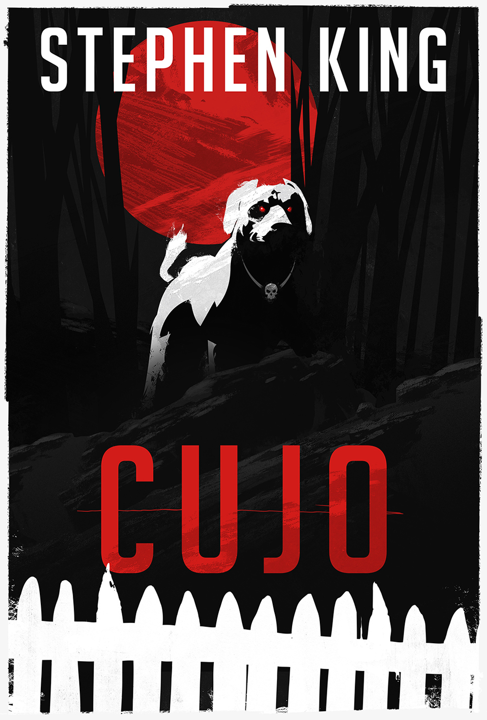 "Stephen King's ""Cujo"" Book Cover"