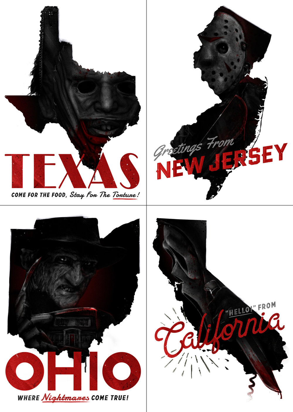 United States of Horror: Postcard Set