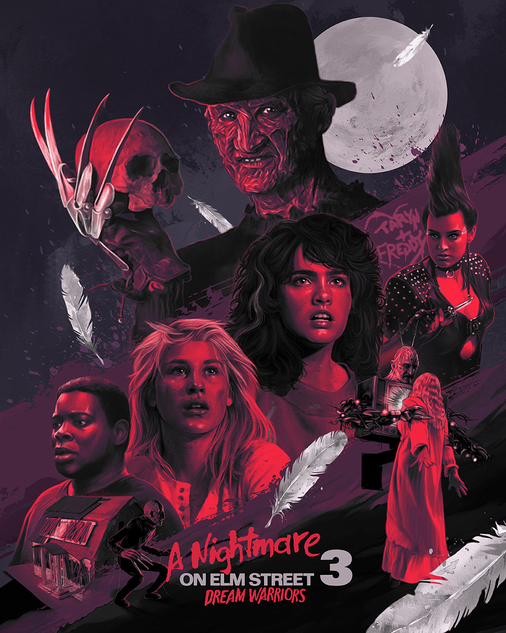 """A Nightmare on Elm Street 3: Dream Warriors"" Tribute Print"