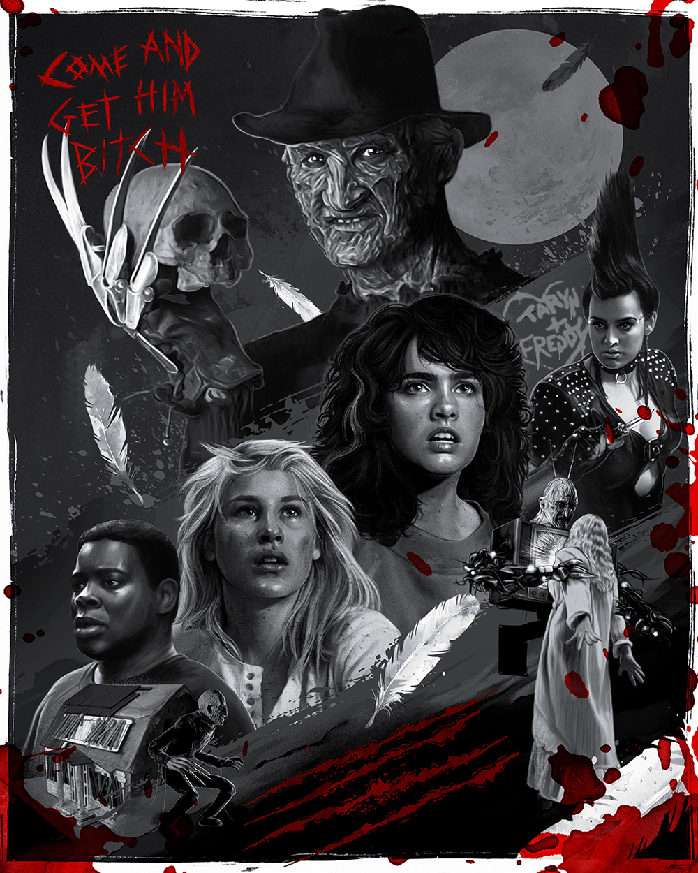 "16x20 ""Blood Variant"" Giclee Print inspired by  A Nightmare On Elm Street 3: Dream Warriors"