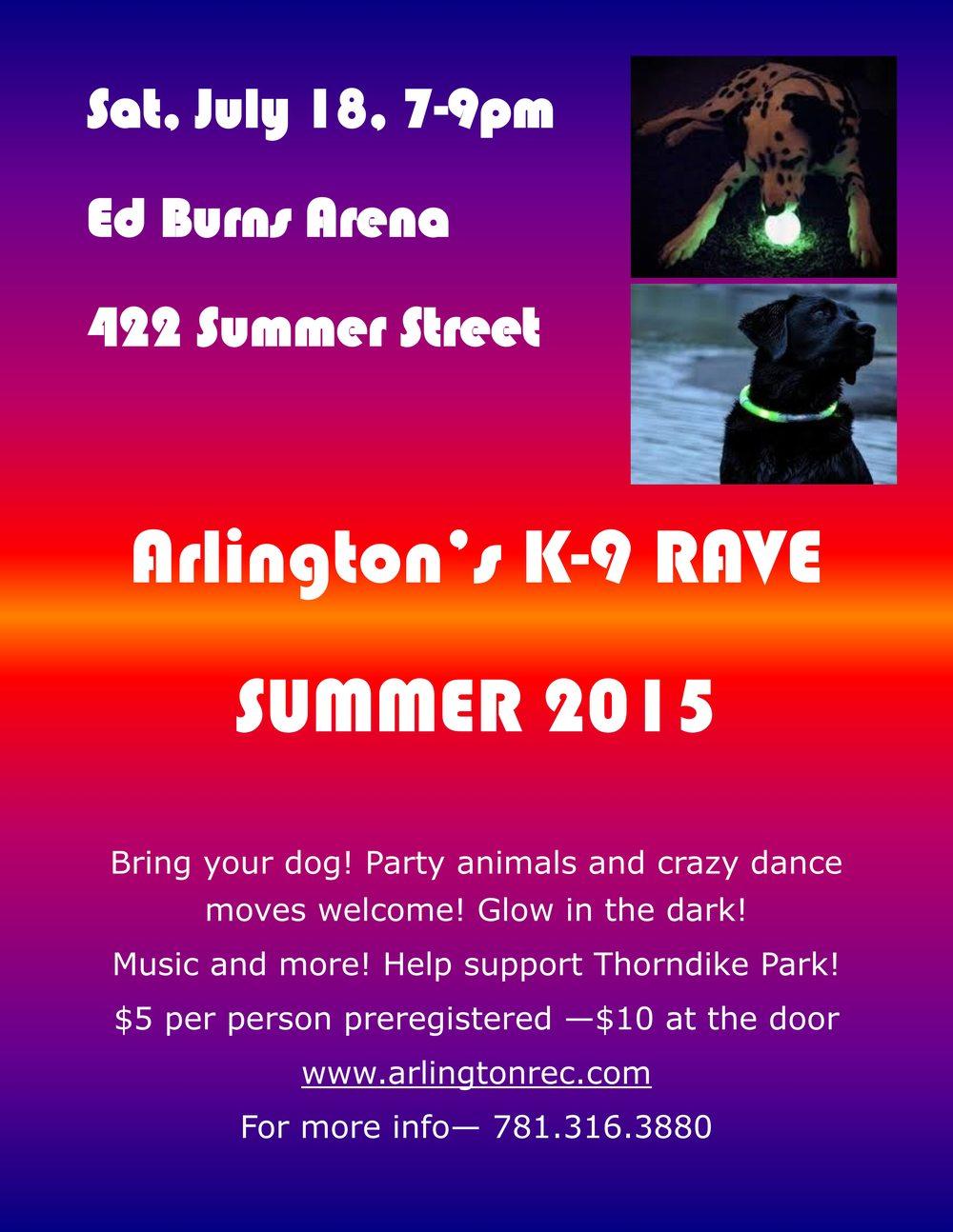 Arl K-9 Rave poster