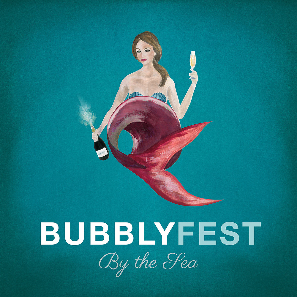 Branding and Design for Bubblyfest by the Sea