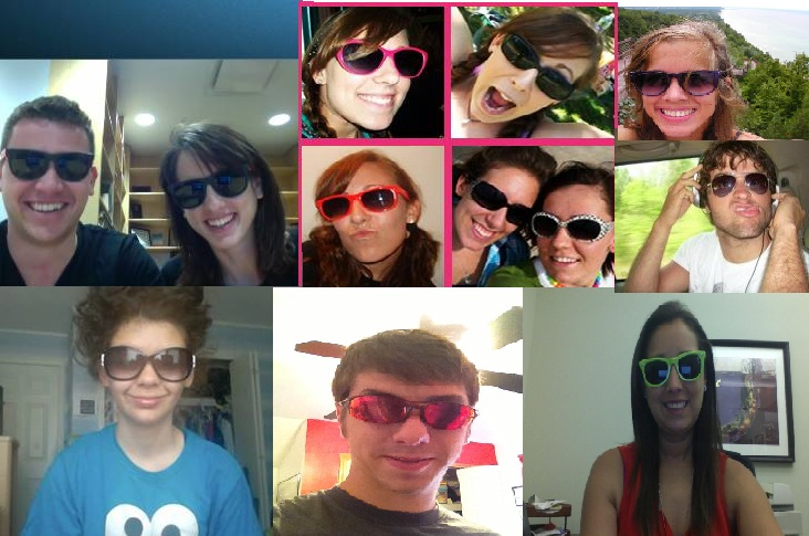 Sporting some shades!
