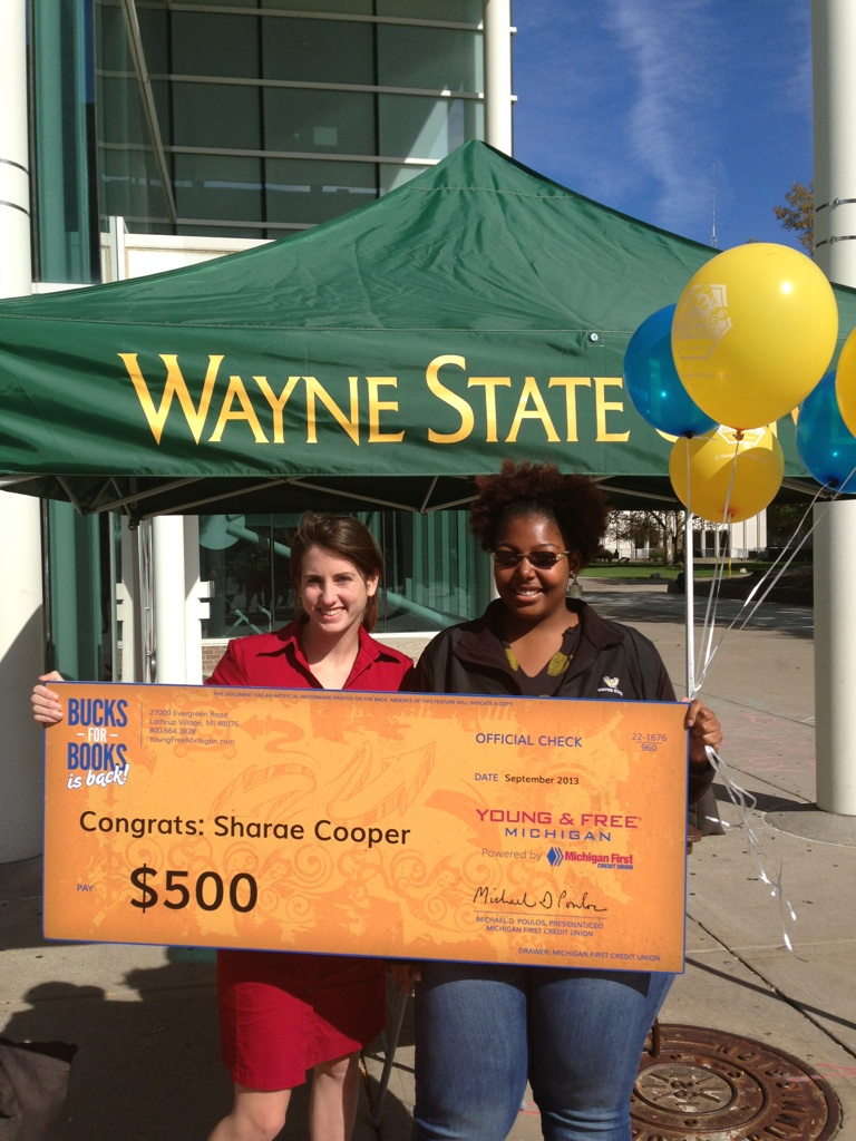 Sharae Cooper at Wayne State won the $500 overall prize
