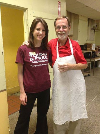At the soup kitchen!