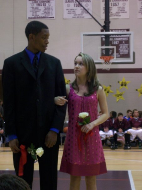 Sophomore Year when I was on Homecoming court!  That hair was not working for me...