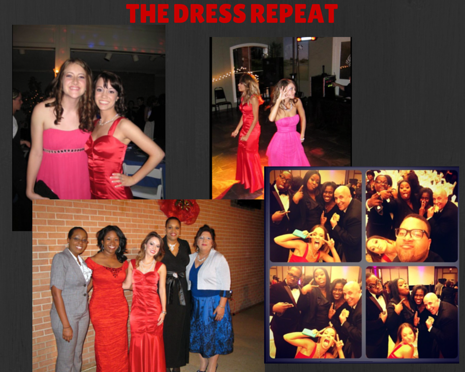 """From 2009to 2014... Iwore this dress 3 times and my best friend wore it once, to my """"prom"""" birthday party."""