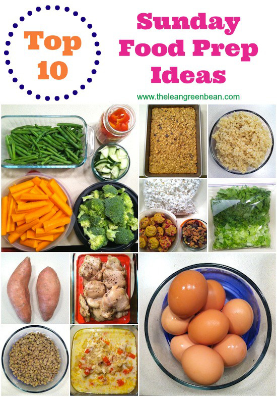 http://www.theleangreenbean.com/top-10-foods-for-sunday-food-prep/