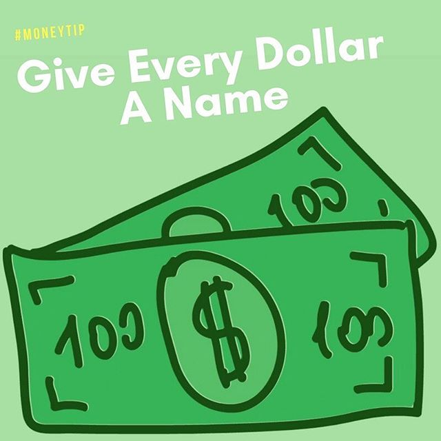 Don't literally name every dollar but keep track of them like they're family. For example, if you make $1,700 a month, then you want every item you spend, save, give or invest to add up to $1,700. Then you'll know where all of your money is going. Before you'll know it you'll be budgeting every month like a pro! #monthlybudget