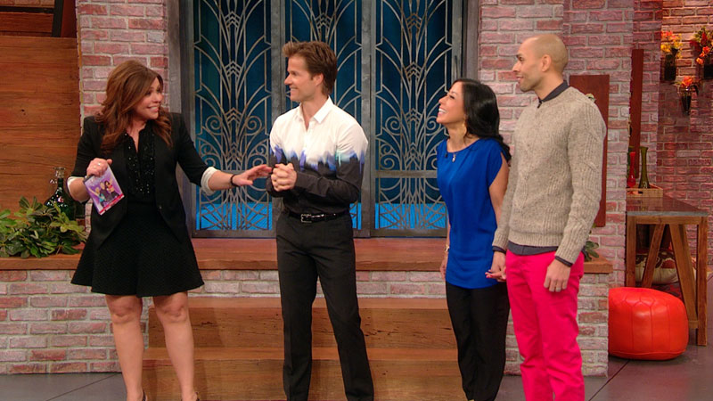 Manisha & Alex on Rachael Ray with DWTS pro Louis van Amstel ______________________________________________________________