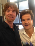 DWTS pro Louis van Amstel and Peter Jones on Rachel Ray's Wedding Crasher's show