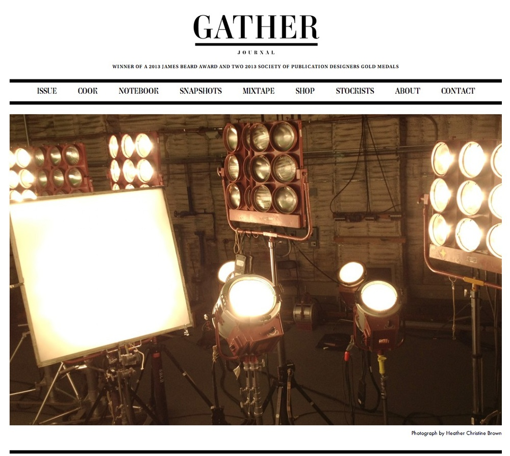 Photography Featured in Gather Journal Issue 3, Spring/Summer 2013 ROUGH CUT Summer Film Issue