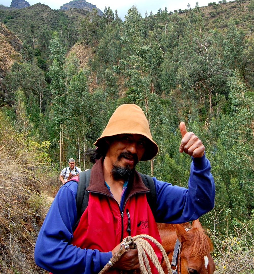 Maaelu Andides. Meie võõrustaja ja hobusematka teejuht Wow.