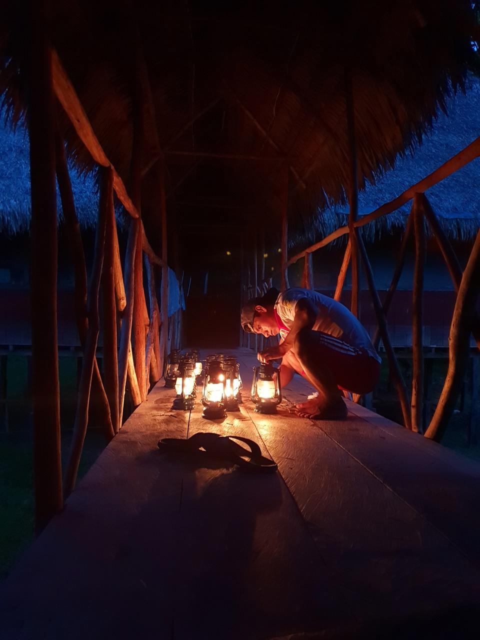 Õhtune vöönd metsalodge's. Foto: Johan Kullerkup /Amazonas Reisid