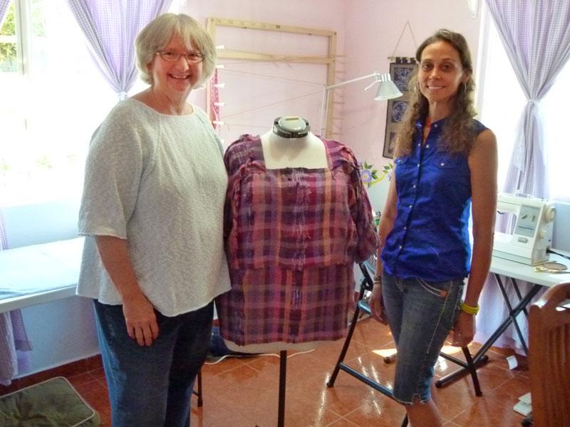 Totsie with Rebekah Clark, seamstress