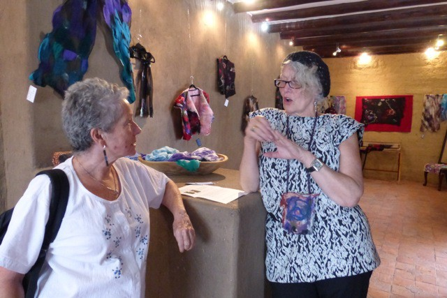 Gertie, on the left, took me to Rommie's show soon after I moved to Cuenca.