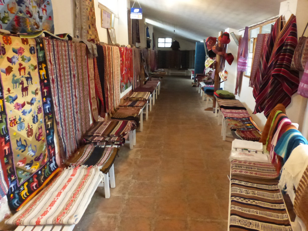 The Gallery at the Tahuantinsuyo Weaving Workshop