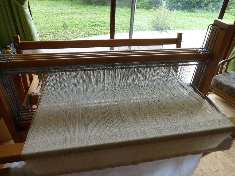 This is my Leclerc loom dressed with 720 threads.