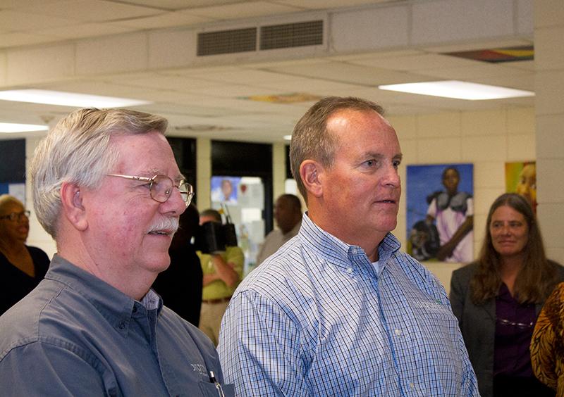 Dennis Watson, P.E. & Ralph A. Hargrove talk to the Media