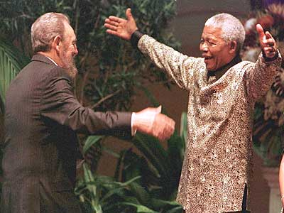 The dream and the support. i was in Havana when Fidel visited Mandela in South Africa. Live on TV it made my heart sing for Civil Rights.    When Fidel entered the main Parliament building the women chanting and singing my Heart was full with joy x wonder.