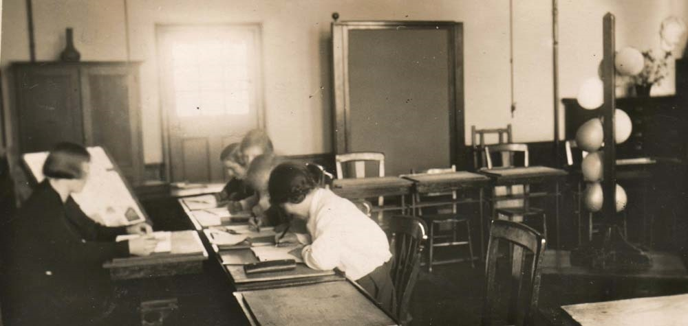 1930?   Miss Mathersil (Art room, later 6th form common room)