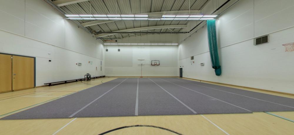 Sports Hall dimensions: 33m x 18m