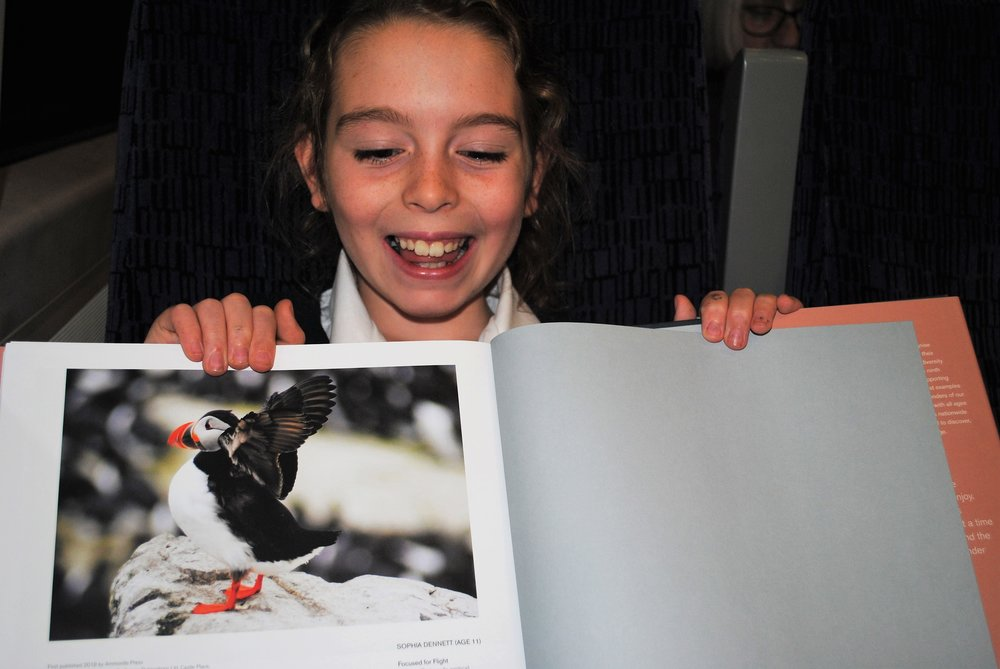 Sophie's Puffin Photograph wins Award.jpg