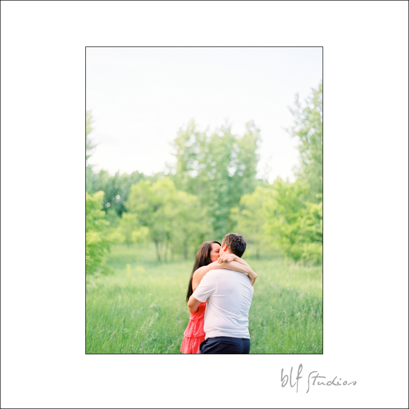 Winnipeg engagement photography on Fuji film