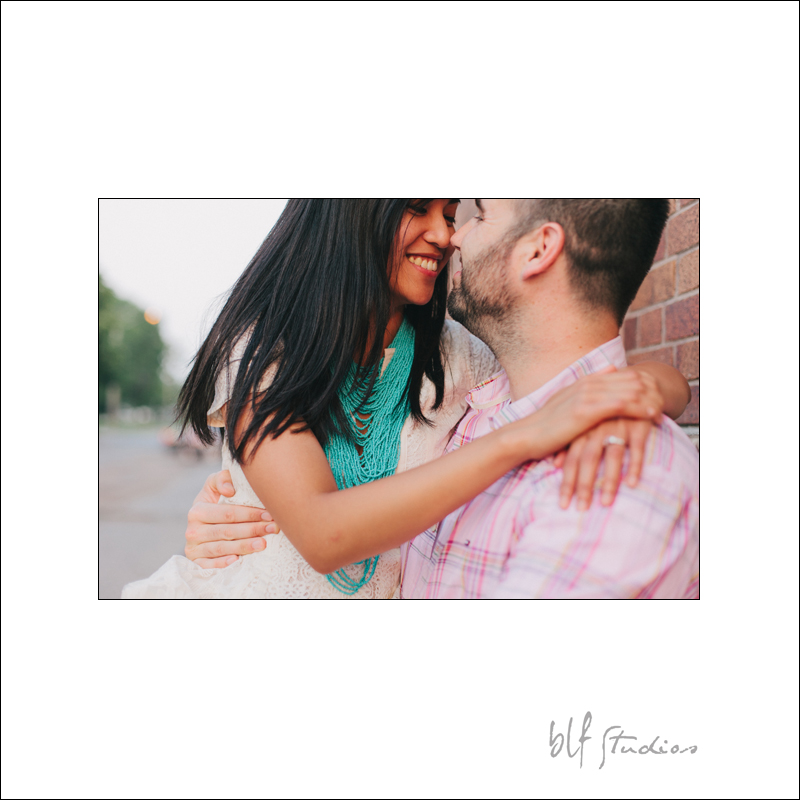Engagement photos in Winnipeg Exchange District