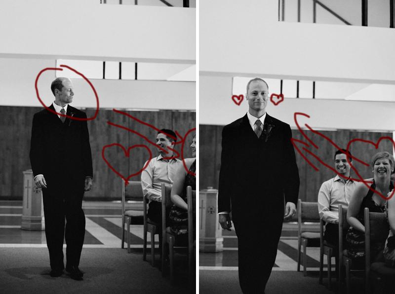 Cupid at work! Dan as a groomsman walking down the aisle working his magic...