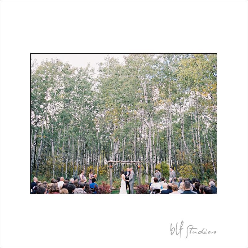 Outdoor wedding ceremony Ceilo Gardens Manitoba