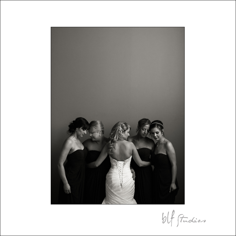 Winnipeg bride with her beautiful bridesmaids