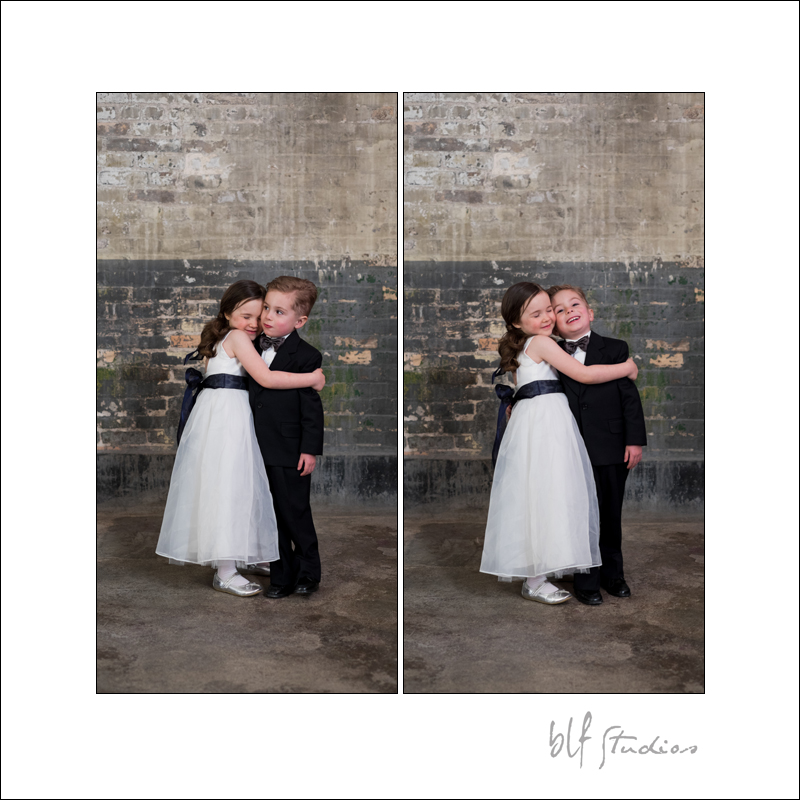funny flower girl and ring bearer in Winnipeg