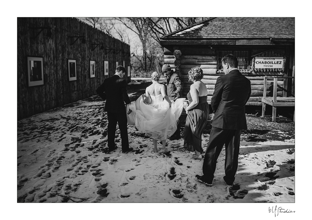 Winter wedding at Fort Gibraltar Winnipeg
