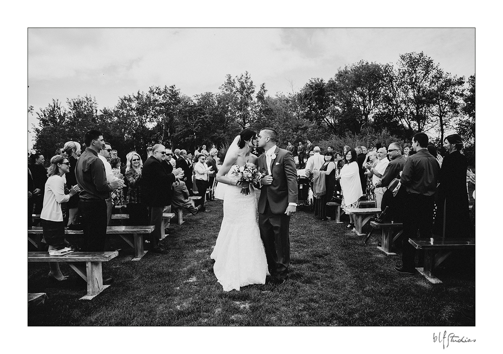 Outdoor ceremony photos at Hawthorn Estates Manitoba