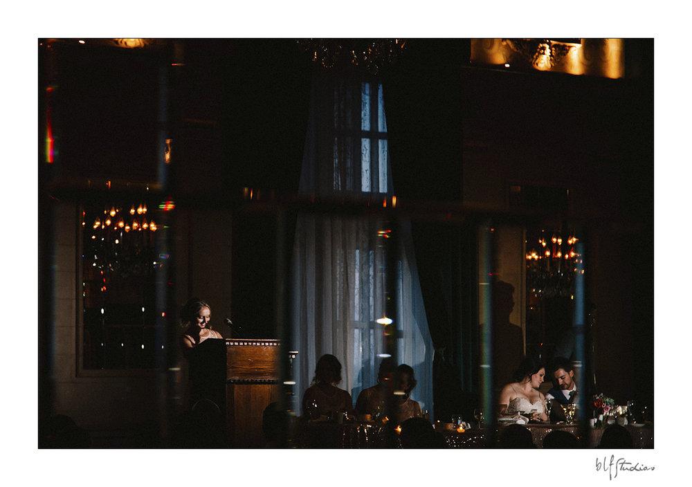 wedding speeches in Crystal Ballroom Hotel Fort Garry