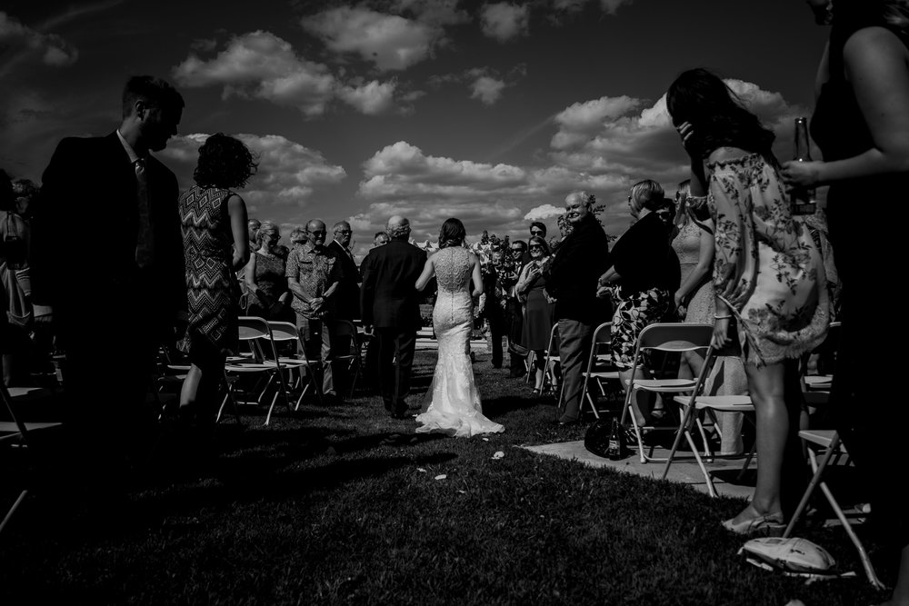 Outdoor wedding ceremony photos