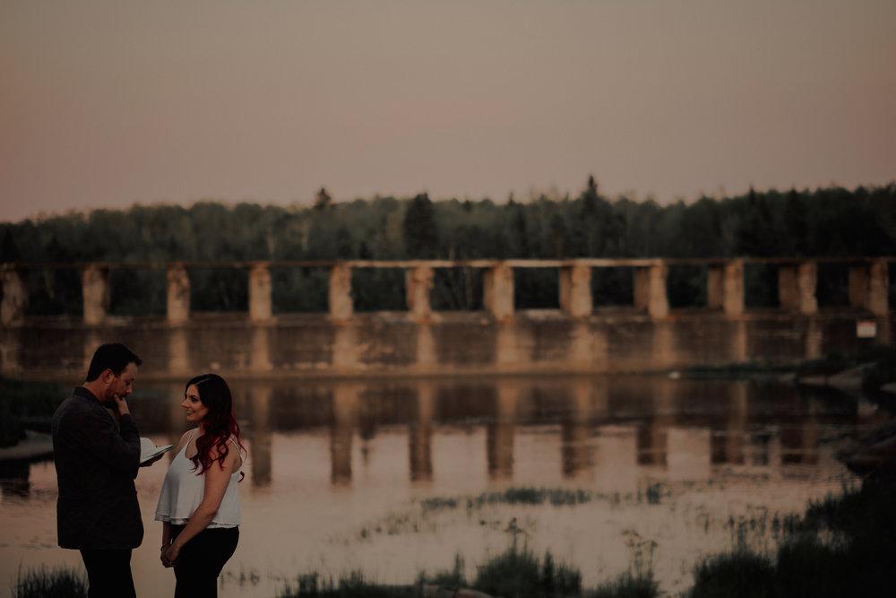 Pinawa Dam Engagement Photographer