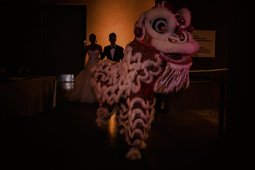 Chinese Lion Dance at Wedding in Winnipeg