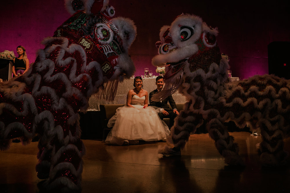 Chinese Lion Dance at wedding CMHR