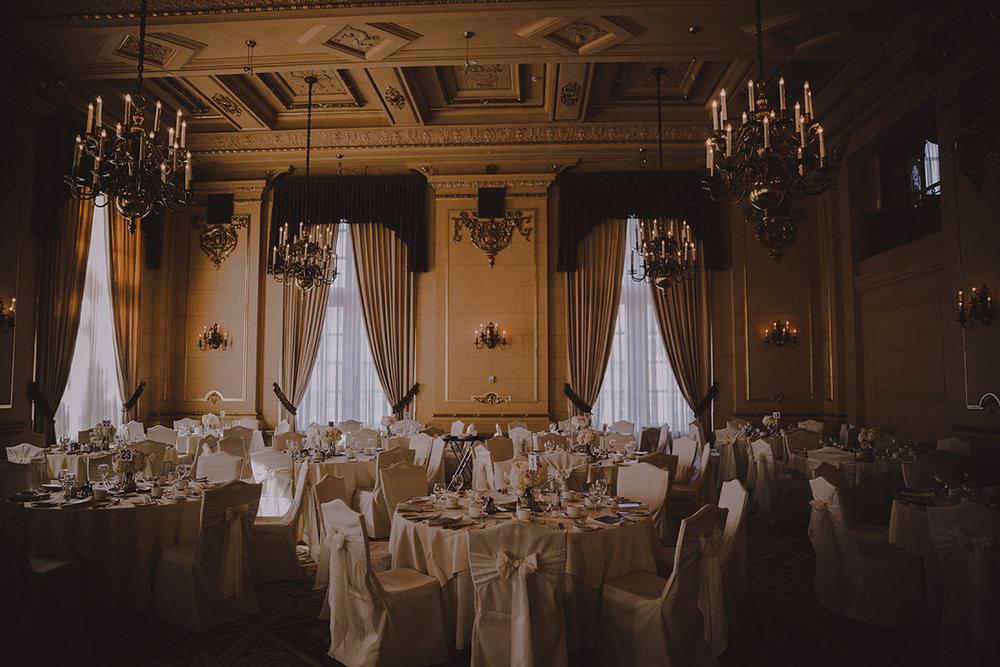 Hotel Fort Garry wedding reception set up photos
