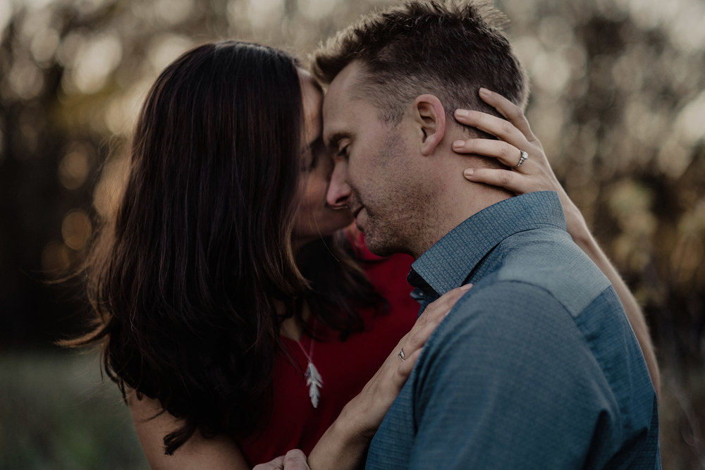 Romantic engagement photos Winnipeg