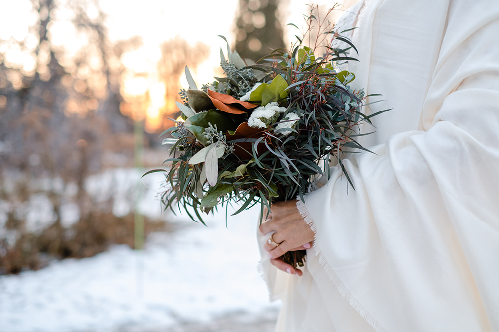 Fache Florals Winter wedding bouquet